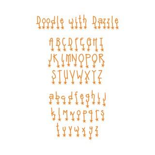 Sizzix Sizzlits Doodle with Dazzle Alphabet Dies (Set of 9)