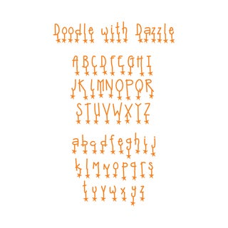 Sizzix Sizzlits Doodle with Dazzle Alphabet Dies (Set of 9)