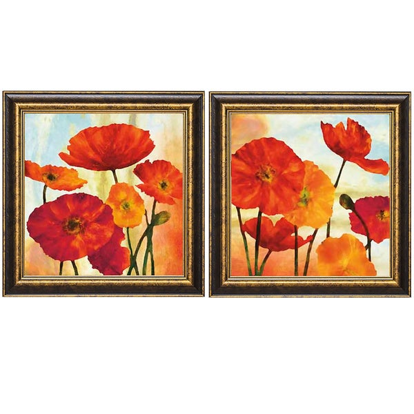 Elise Remender 'Poppy Variation 1/Popp Variation 2' Framed Art Print