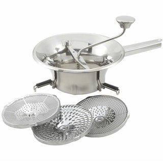 Winco Professional Stainless Steel 2-quart Food Mill Set
