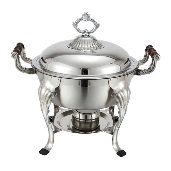 Winco 5-quart Crown Stainless Steel Round Chafing Dish