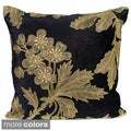 'Ava' 20-inch Square Polysilk Embroidered Decorative Pillow