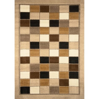 Primavera Neutral Block Area Rug (5'2 x 7'6)