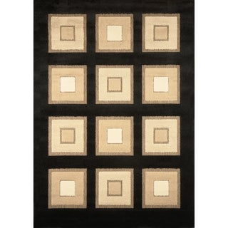 Primavera Black/ Gold Area Rug (5'2 x 7'6)