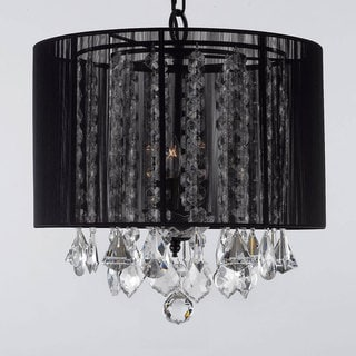 Gallery Three-Light 40-Watt Crystal Chandelier with Shade