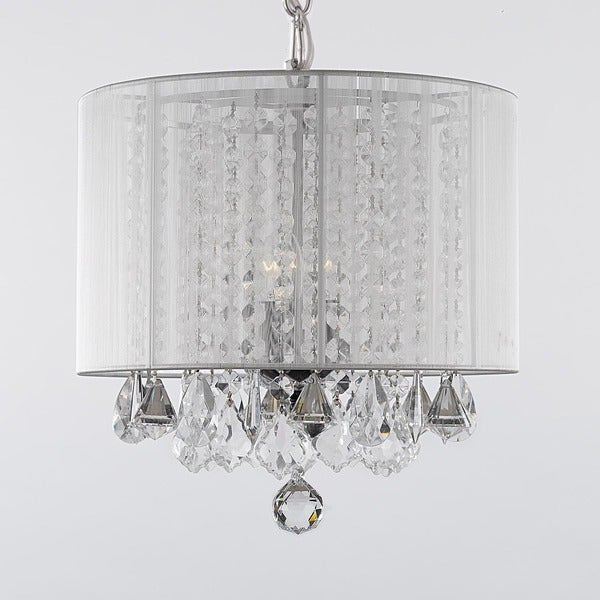 Gallery 3-superficial Crystal Chandelier with Shade