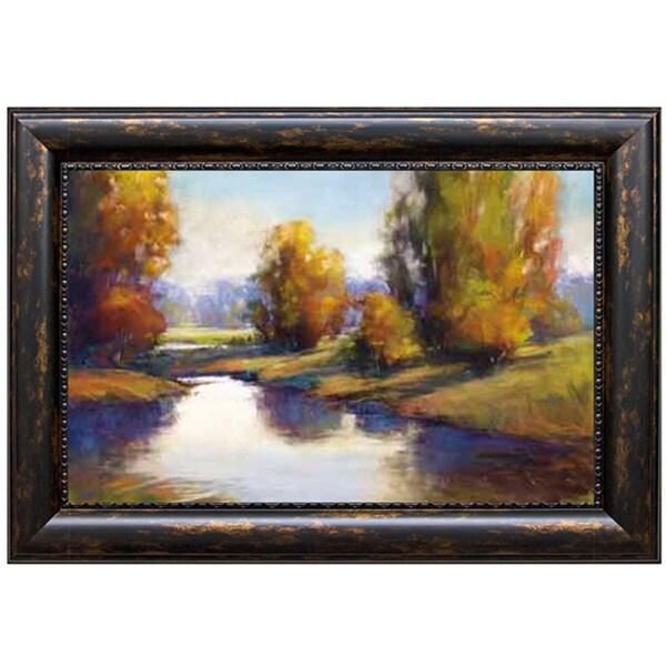 Amanda Houston 'Lake View 2' Framed Art Print