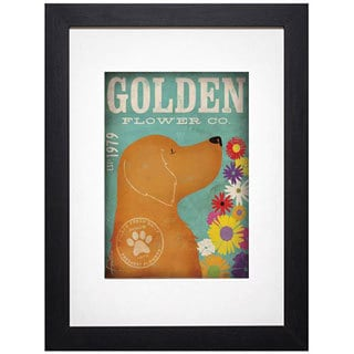 Stephen Fowler 'Golden Flower Co.' Framed Art Print