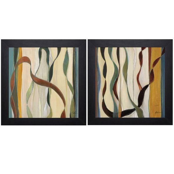 Judeen 'Falling Ribbons I/Falling Ribbons II' Print Art