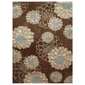 Casa Bella Brown Indoor/ Outdoor Rug (6'6 x 9'8)