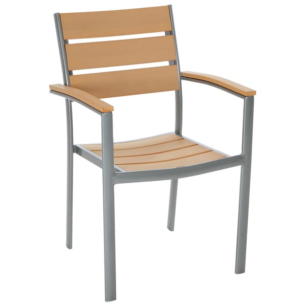 Cosco Outdoor Arms and Horizontal Slats Stack Chair (Set of 2)