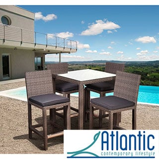 Atlantic Olivia Square Grey 5-piece Bar Set