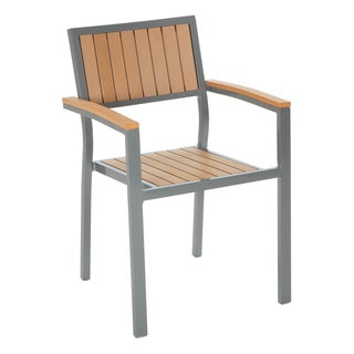 Cosco Outdoor Arms and Vertical Slats Stack Chair (Set of 2)
