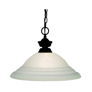 Pendant Lights 1-light Pendant with White Swirl Shade
