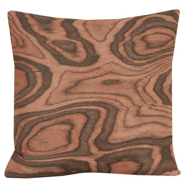 Photo Real Woodgrain Decorative Throw Pillow