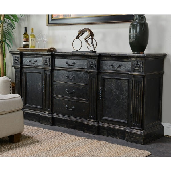 Chael 6-drawer 2-door Black Sideboard