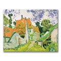 Vincent van Gogh 'Street in Auvers-sur-Oise' Canvas Art