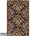 Paule Marriot Hand-hooked Cannes Contemporary Floral Rug (2' x 3')