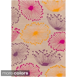 Sanderson Hand-tufted Dandilion Contemporary Floral Rug (2' x 3')