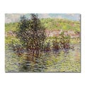 Claude Monet 'Vetheuil View from Lavacourt' Canvas Art