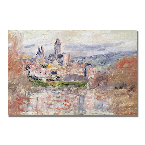 Claude Monet 'The Village of Vetheuil' Canvas Art
