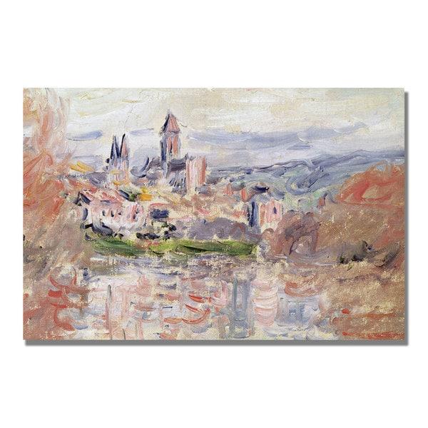 Claude Monet 'The Village of Vetheuil' Canvas Art