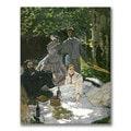Claude Monet 'Dejeuner sur l'Herbe, Chailly' Canvas Art