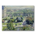 Claude Monet 'View of the Tuileries' Canvas Art