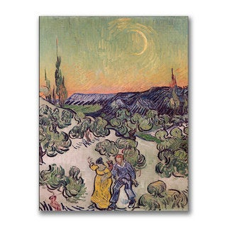 Vincent van Gogh 'Moonlit Landscape 1889' Canvas Art