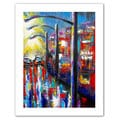 Susi Franco '8 O'Clock Street Lights' Unwrapped Canvas