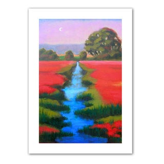 Susi Franco 'Provence Moonrise' Contemporary Unwrapped Canvas