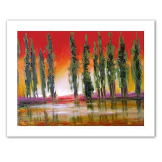 Susi Franco 'Tuscan Cypress Sunset' Unwrapped Canvas