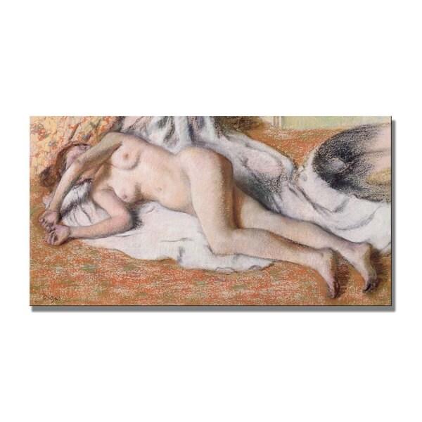 Edgar Degas 'Reclining Nude' Canvas Art 11130667