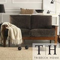 Mission Dark Brown Champion Fabric Loveseat