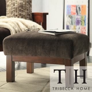 Tribecca Home Mission Dark Brown Champion Fabric Ottoman