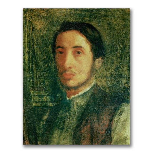 Edgar Degas 'Self Portrait as a Young Man' Canvas Art