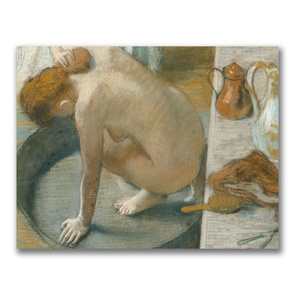 Edgar Degas 'The Tub 1886' Canvas Art