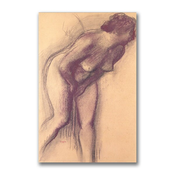Edgar Degas 'Female Standing Nude' Canvas Art 11130754