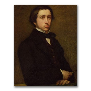 Edgar Degas 'Self Portrait' Canvas Art