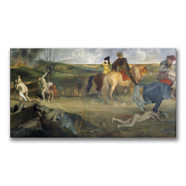 Edgar Degas 'Scene of War in the Middle Ages' Canvas Art
