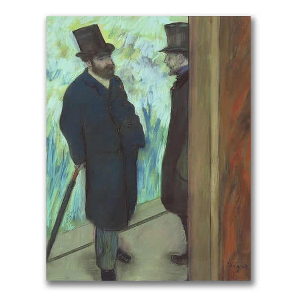 Edgar Degas 'Friends at the Theatre' Canvas Art