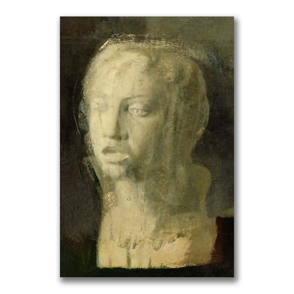 Edgar Degas 'Study of the Head of a Young Singer' Canvas Art