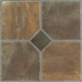 Homeworx Self-Adhesive Rustic Slate Vinyl Floor Tiles (60 square feet)