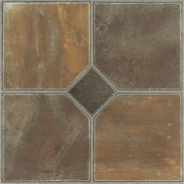 Homeworx Self-Adhesive Rustic Slate Vinyl Floor Tiles (60 square feet)