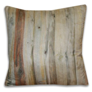 Photo Real Weathered Wooden Cottage Fence Throw Pillow