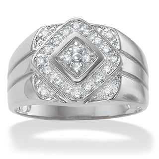 PalmBeach Platinum Men's 1/4ct TDW Diamond Ring (H-I, I2-I3)