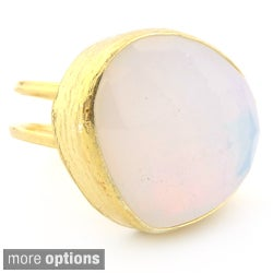 Plutus Gold over Silver Gemstone Ring