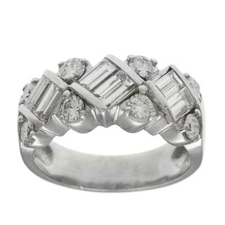 Platinum 1 3/4ct TDW Diamond Bridal Estate Ring (G-H, VS1-VS2)