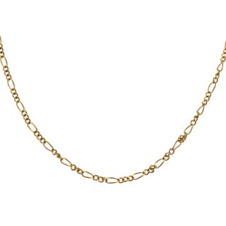 Sterling Essentials 14k Gold Overlay 24-inch Figaro Chain