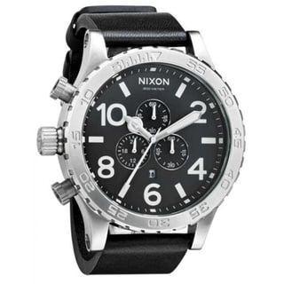 Nixon Men's '51-30' Black Leather Chronograph Watch